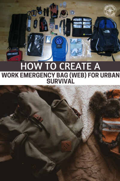 How To Create A Work Emergency Bag (WEB) For Urban Survival - Natural and man made disasters can force offices full of workers to evacuate. In big cities a disaster may also affect public transportation. In an emergency, you may be on your own and forced to improvise.