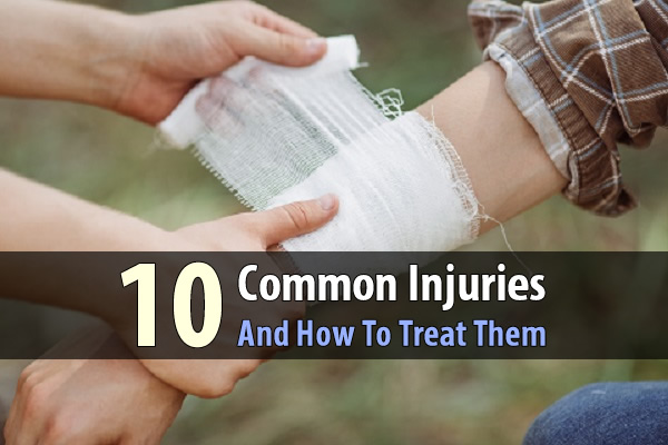 10 Common Injuries And How To Treat Them - How to treat 10 common injuries with a huge emphasis on natural remedies that require things like bee-balm, baking soda, aloe vera, black tea, dandelion, activated charcoal, and more.