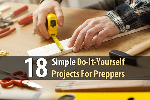 18 Simple Do-It-Yourself Projects For Preppers - This article describes 18 DIY projects for preppers including: oil lamps, rocket stoves, potato boxes, cold frames, sling shots, water pumps, bicycle generators, and more. If you learn how to make these, you'll not only save money, you'll be able to make crucial survival items from trash.