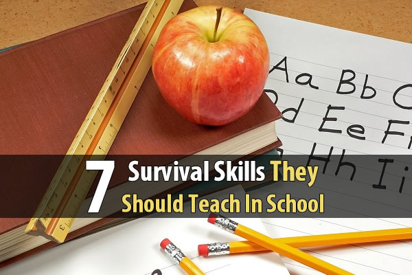 7 Survival Skills They Should Teach In School - The possibility of an economic collapse where food and water are longer be readily available is becoming very real. If that day ever comes, we will need a generation of young people who know how to garden, butcher animals, treat wounds, use firearms, and more. Without these skills, society could descend into utter chaos.