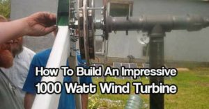 How To Build An Impressive 1000 Watt Wind Turbine — 1000 watts is great power for any home. This turbine help charge the battery bank that powers our offgrid home. It's a permanent magnet alternator, generating 3 phase ac, rectified to dc, and fed to a charge controller.