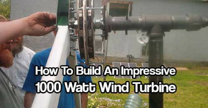 How To Build An Impressive 1000 Watt Wind Turbine -- 1000 watts is great power for any home. This turbine help charge the battery bank that powers our offgrid home. It's a permanent magnet alternator, generating 3 phase ac, rectified to dc, and fed to a charge controller.