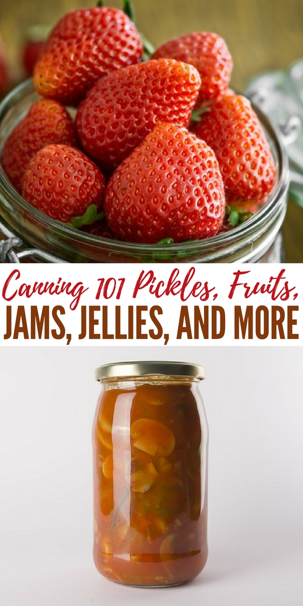 Canning 101 Pickles, Fruits, Jams, Jellies, and More - No power outage or mechanical failure will cause your pantry full of home canned food to go bad, as can happen with frozen food.