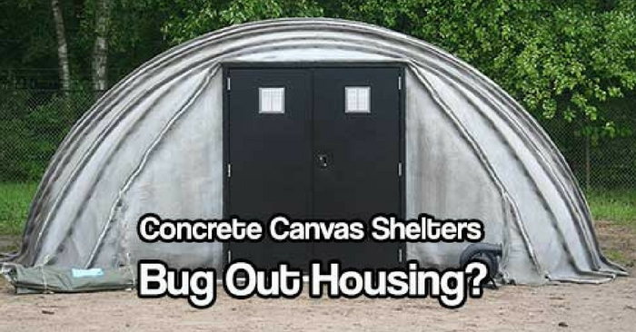 Basement In Your Bug Out Shelter : Concrete canvas shelters