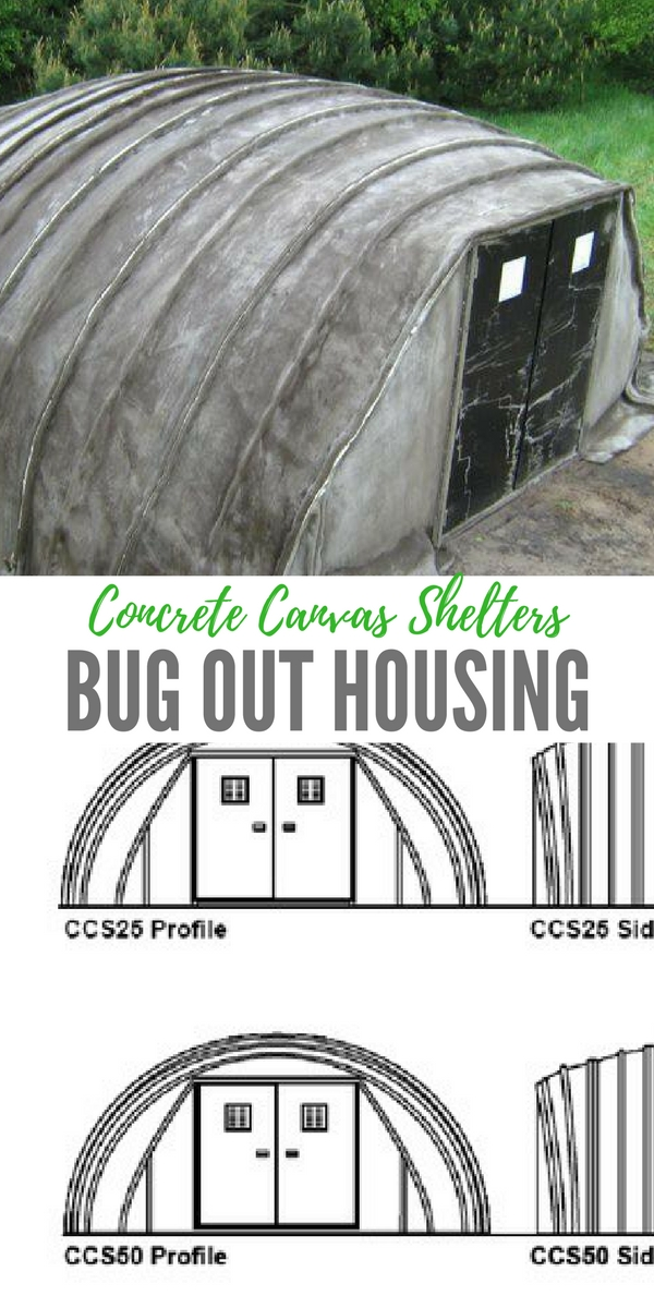 Concrete Bug Out Shelter : Concrete canvas shelters