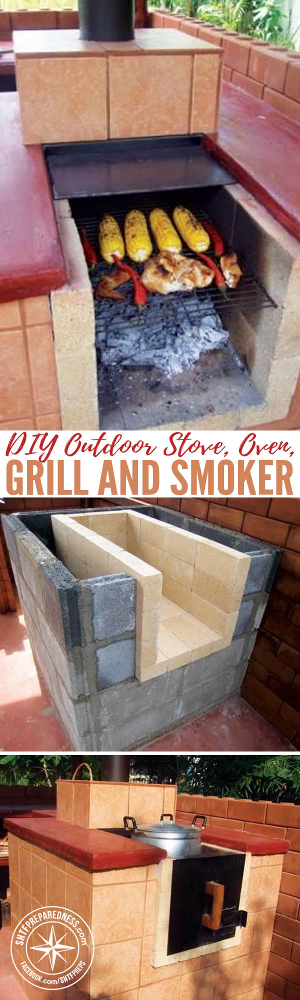 diy outdoor stove oven grill and smoker