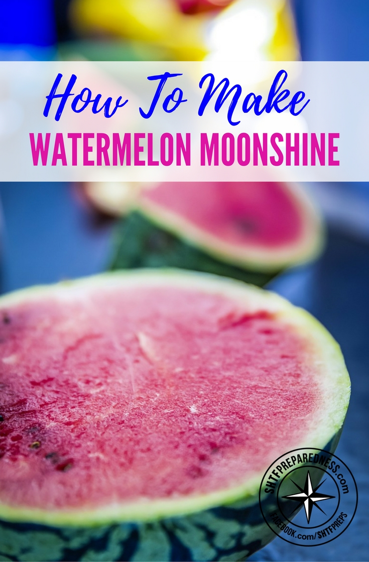 How to Make Watermelon Moonshine (Step-By-Step With Pictures) — Are you tired of making the same old moonshine recipe? Perhaps you've noticed the early summer bins of watermelons at the entrance of every supermarket or maybe it's harvest time and you have some ripe melons in the garden? If so- don't waste your time eating them. Get ready to party and make some watermelon moonshine! Below is a detailed watermelon wine recipe which once distilled makes an awesome watermelon brandy.