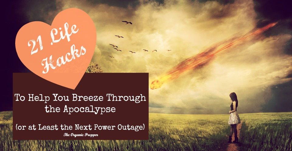 21 Life Hacks To Help You Breeze Through the Apocalypse - Here are a few life hacks that are applicable not only to regular everyday lifestyles but to those who are of a preparedness mindset. While all of these aren't necessarily life-saving, they all have the potential to save you money and effort in a survival situation.