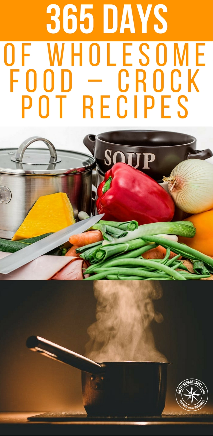 365 Days Of Wholesome Food – Crock Pot Recipes - Over at ayearofslowcooking.com they have a whole year+ worth of crock pot meals to try out. The recipes range from beverages to full blown meals.