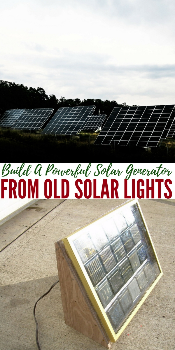 How To Build A Powerful Solar Generator From Old Solar Lights — Have you got old solar lights from the garden laying around? I know I have about 10 right now that look outdated and weathered. Well, did you know with a little thinking and a little solder here and there, you can create a powerful solar panel for pretty much free.