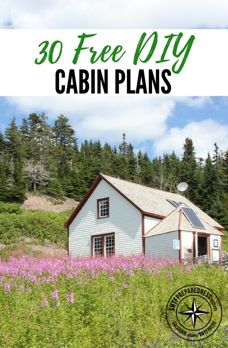 30 Free DIY Cabin Plans — Download 30 FREE DIY cabin plans and have your dream get away location built in no time. Free plans are always a good find. So I am sharing them with you all today.