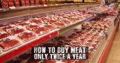 How To Buy Meat Only Twice a Year - There's a way you can get the most for your money, ensure you don't toss out freezer burnt meat, and extend the usefulness of the meat for up to three years! The best part: you only shop for meat a couple times a year.