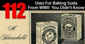 112 Uses For Baking Soda From WWII You Didn't Know — Baking soda is a fantastic product we all should have stockpiled. Most important for me is we can also protect ourselves from the array of toxins in household cleaning products.