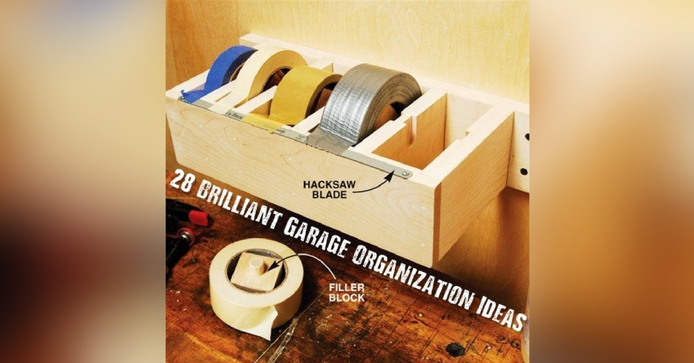 28 Brilliant Garage Organization Ideas - Garage organization ideas are often looked over and before you know it you have one messy garage and no clue where any of your tools are. Having a tidy, organized garage works wonders when it comes time to get motivated to garden or get your hands dirty with a few DIY projects.