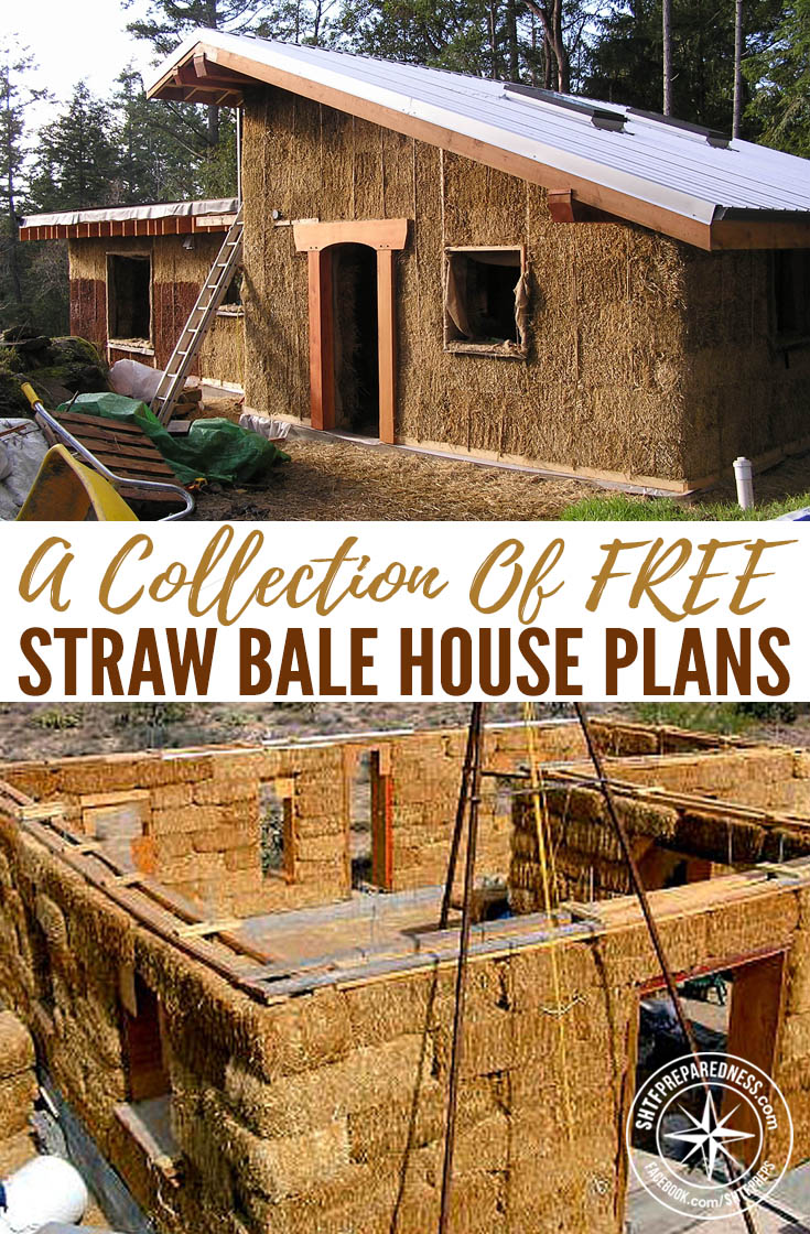 Free straw bale house plans for Save money building a house