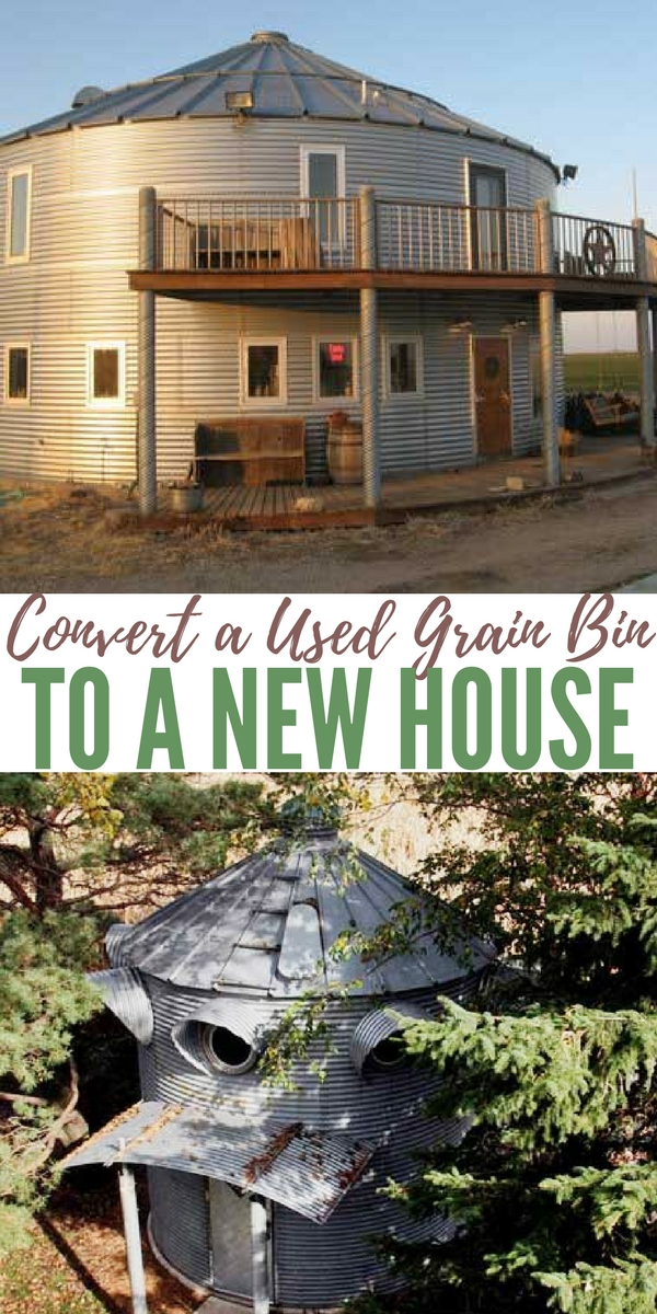 Grain House Bins as Alternative Small Housing? Convert A Used Grain Bin To A New House —I know some of you will be saying what about tornadoes and nasty winds.. Well, that is something you have to think about, of course, but remember you could make the bins sturdier and add a foundation too.