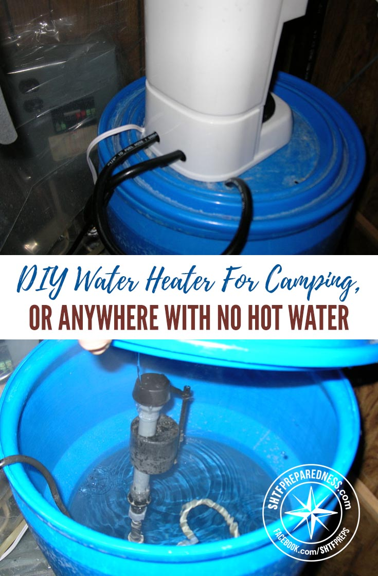 how to catch water for a hot water heater