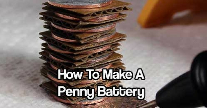 How To Make a Penny Battery — See how to make a penny battery today and always have a quick source of power in an emergency. Perfect for small projects like powering a small clock or LED's light bulbs.