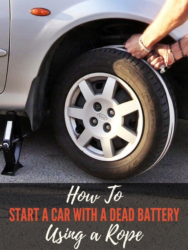 How To Start a Car with a Dead Battery Using a Rope - Imagine that you are stranded in your car with a dead battery in a remote location with no cell signal. No one is going to stop and provide assistance or give you a jump and you can't call AAA. What do you do? Images by ShakeTheFuture via YouTube