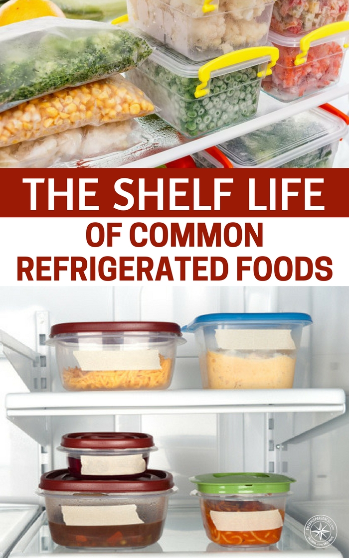 the shelf life of common refrigerated foods. Black Bedroom Furniture Sets. Home Design Ideas