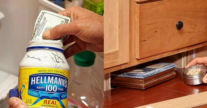 "20 Secret Hiding Places That Will Fool Even the Smartest Burglar — I've been on this really weird ""secret stash"" binge lately. I've been surfing the internet just for different ideas on how to save money, and this article I am sharing with you today came up."