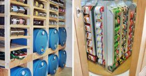 37 Creative Storage Solutions to Organize All Your Food & Supplies - One challenge we all seem to face is how best to store our stuff. Being prepared means having a large stock of necessities (and some luxuries) on hand. It also means you need to figure out how to maximize your storage space, so you actually have some room to live.