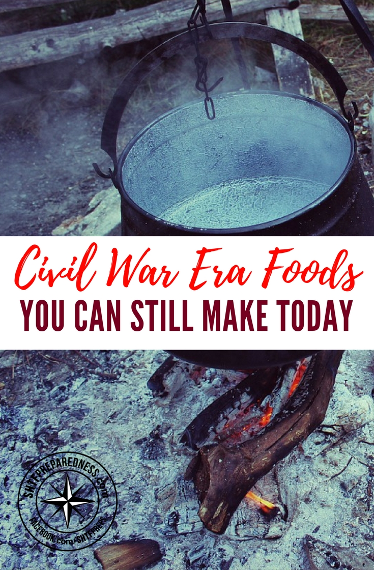 Civil War Era Foods You Can Still Make Today — During the Civil War times, acquiring food and being able to cook it in proper conditions became a luxury for many soldiers. Some of the foods stood the test of time and they can still be cooked today as long as you follow the original recipes