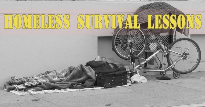Homeless Survival Lessons — see homeless people every day and somehow we keep ignoring them since we are too busy competing in the rat race.