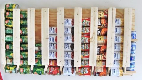 How To Build A Rotating Canned Food Storage System