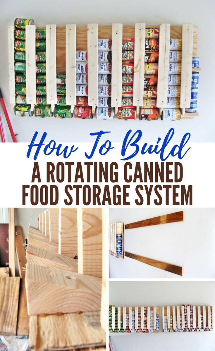 How To Build A Rotating Canned Food Storage System Shtf