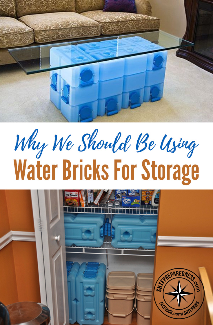 Why We Should Be Using Water Bricks For Storage — I talked about these about a year ago and the pricing was so ridiculous, now their price has dropped considerably I think they are now a viable much needed product in our industry.
