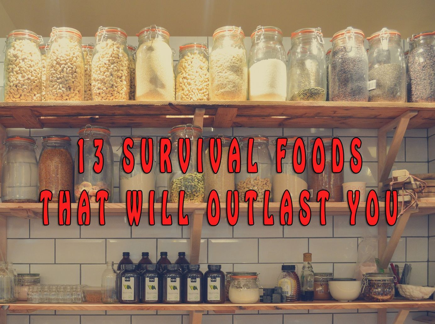 13 Survival Foods That Will Outlast You — If a regional or global disaster will hit tomorrow, do you have all the basics like food and water covered? Will you be able to survive with what you stored in your pantry? Stockpiling food and water shouldn't be seen as a controversial activity and there are a lot of real dangers in today's world that should make you think about how uncertain our future is.