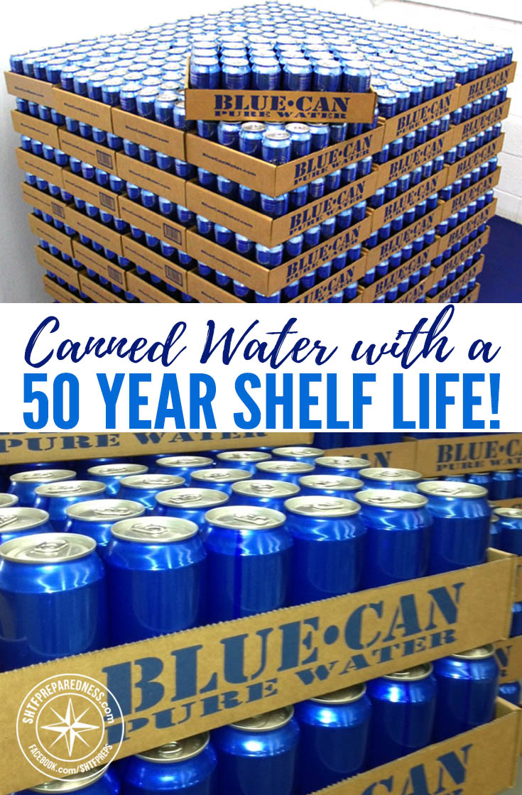 Storing potable water can be one of the trickiest parts of prepping. Emergency canned water from Blue Can Water may be the solution!