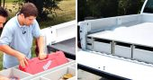 How To Install a Truck Bed Storage System - Hauling your tools and supplies back and forth can be a major pain, and adds a lot of time to any task. A solution to this problem is to build a truck bed workshop, and DIY Network has a step by step tutorial for such a project.
