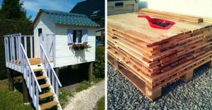 How To Make a Children's Log Cabin with Pallets - While a treehouse is simple and fun, you can take it up a notch with a DIY kid-sized cabin! This tutorial calls for mostly pallet boards and other reclaimed material for a sturdy, cute cabin that is not only fun to build, but is sure to be enjoyed by generations to come.