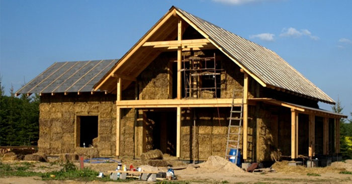A Collection Of FREE Straw Bale House Plans — Straw bale houses are a cheaper option to normal constructed houses, this is a great way to save lots of money and have a great insulated house once its built.