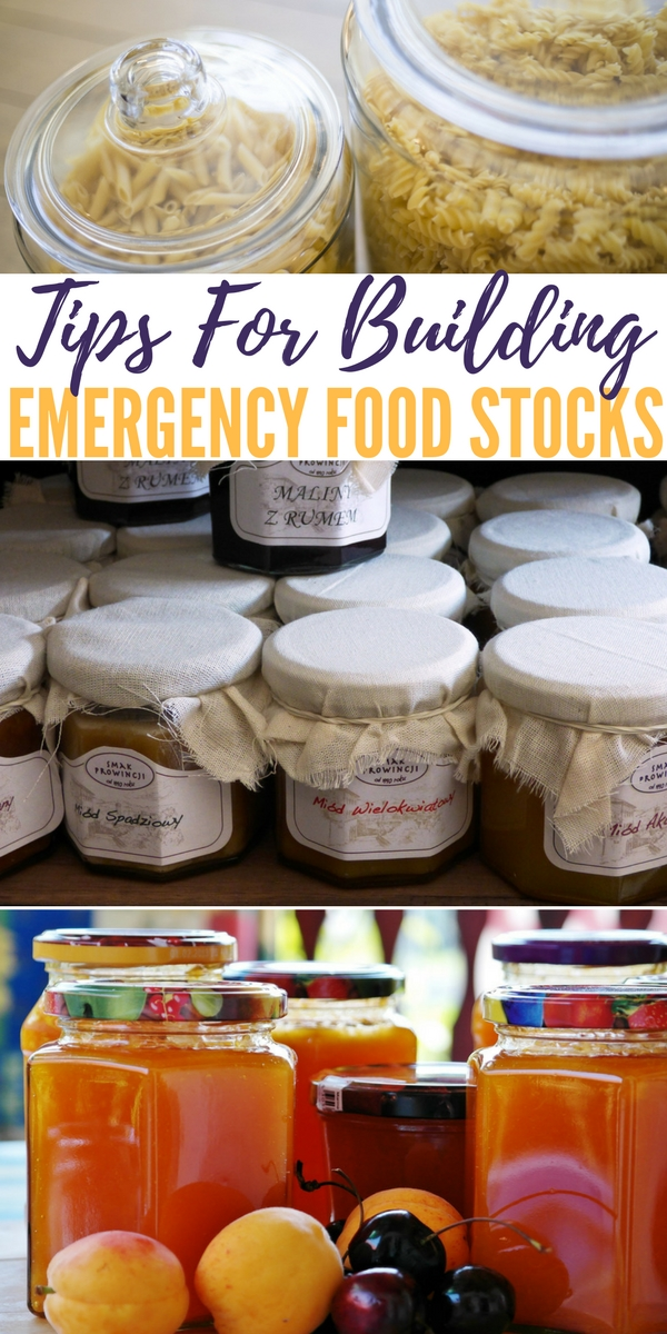 Tips For Building Emergency Food Stocks - Have you been trying to build an emergency food supply, only to turn around and use up all you worked to stock up? It can be incredibly frustration and make you feel like you're failing when that likely isn't the case at all!