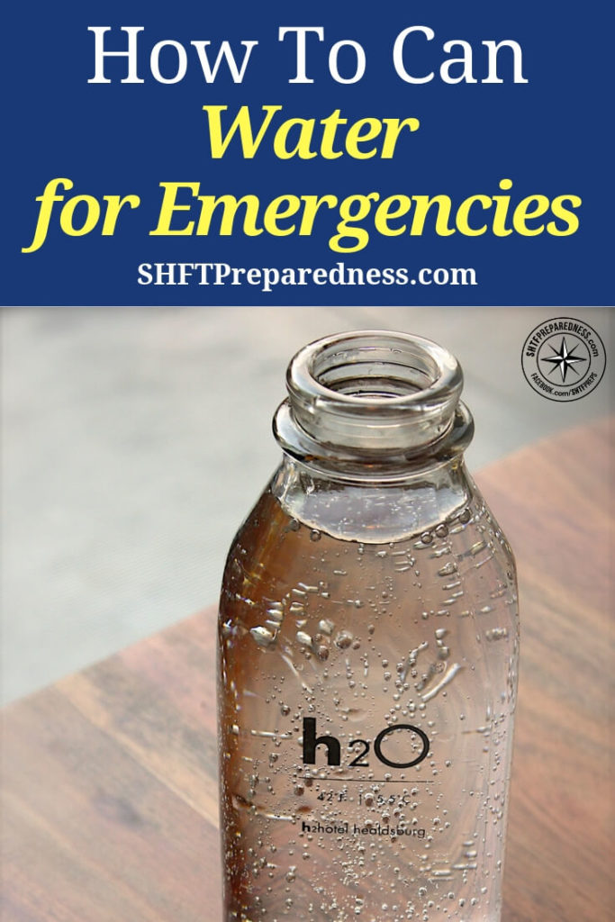 How To Can Water for Emergencies — Stocking an emergency water supply is something everyone should do-regardless of their situation. Natural disasters can disrupt water supply, contamination can occur with chemical or biological hazard leaks, and cold weather can cause pipes to freeze and burst.