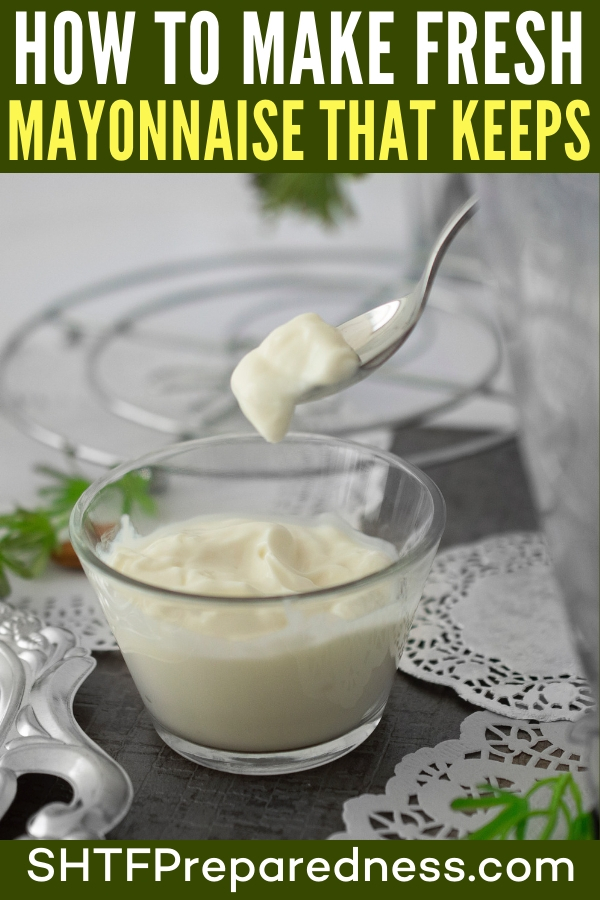 How To Make Fresh Mayonnaise That Keeps — Once I realized I could make our own mayonnaise so easily, I felt pretty committed to never buying the store-bought kind again. We like doing things ourselves: We know what's in it - we never have to read food labels and wonder what they really mean - and we can make it exactly how we want.