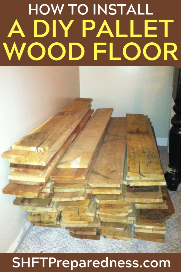 How To Install a DIY Pallet Wood Floor — I love starting new DIY home improvement projects, especially when you get to do some re-purposing or upcycling! Whether you're starting from the ground up with your own homestead, or just looking for an interesting way to spruce up your home, you'll probably be considering some new flooring.