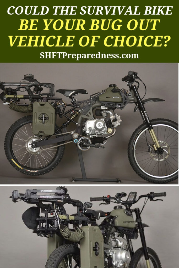 Could the Survival Bike be Your Bug Out Vehicle of Choice? — One important part of prepping is making sure you have an economical mode of transportation in the event that we don't have access to gas. There are always biofuels, but large, heavy vehicles will guzzle these just like they do fossil fuels.