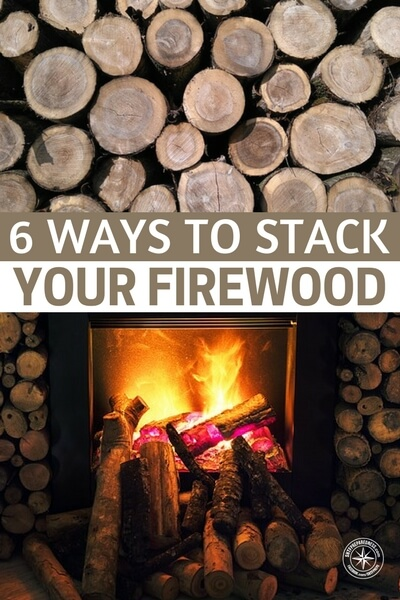 6 Ways to Stack Your Firewood — Having wood stockpiled is a must. It will heat your house if the power goes out. Cook your food, and bring you some relief if SHTF. Now, stacking the wood.... Thats a whole different kettle of fish!