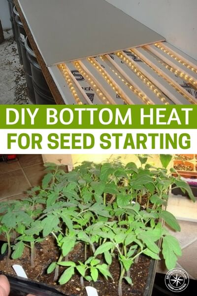 "DIY Bottom Heat for Seed Starting Retail bottom heat is expensive – I saw one ""kit"" at a local garden center that was big enough for 2 flats and was $79 – wow! You can buy a lot of tomato plants for eighty bucks!"
