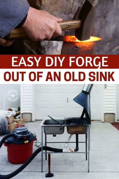 Easy DIY Forge Out Of An Old Sink — Easy DIY project we all could at least try and get some sort of blacksmithing skills before SHTF. I love the simplicity of this forge set up.I think having a little knowledge of this old skill could come in very handy if SHTF.