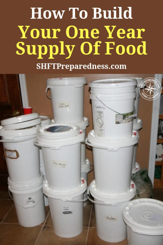 How To Build Your One Year Supply Of Food — Everyone's storage plan should include bulk food storage items, for example, oats, rice, salt, etc. These basics are needed in everyone's home storage. Long-term food storage is cheap and healthy and very do-able.