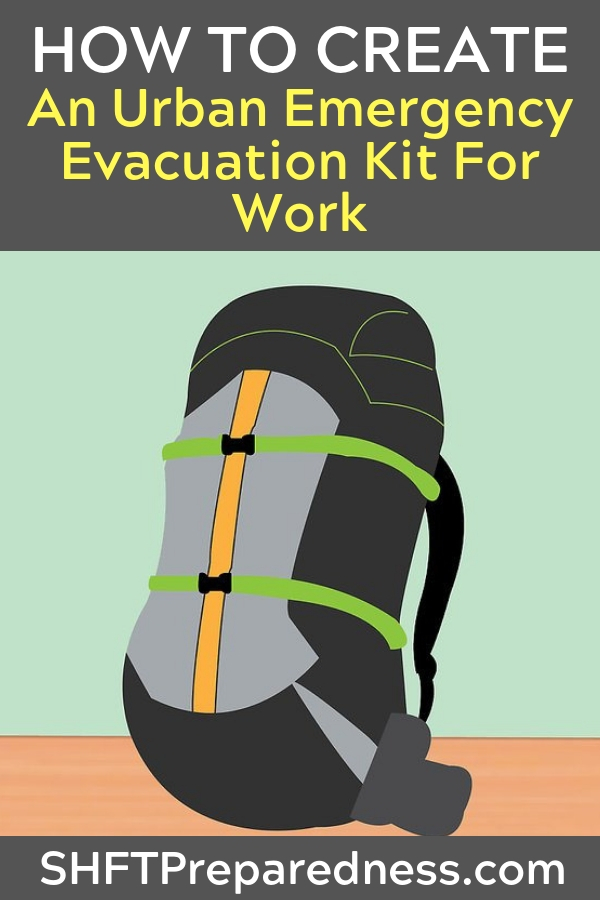 How to Create an Urban Emergency Evacuation Kit for Work -- Natural and man made disasters can force offices full of workers to evacuate. In big cities a disaster may also affect public transportation. In an emergency, you may be on your own and forced to improvise.