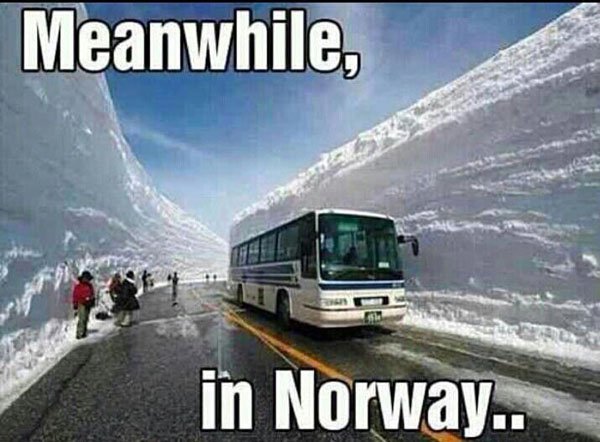 meanwhile in norway - meme