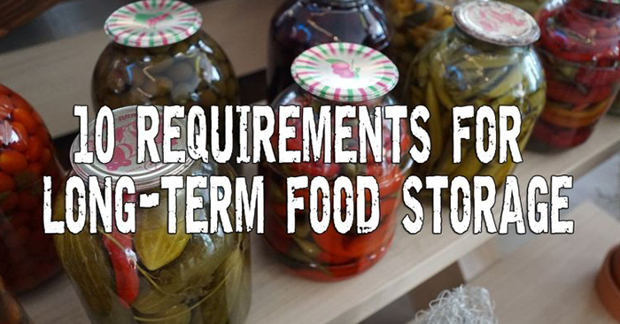10 Requirements for Long Term Food Storage - tips