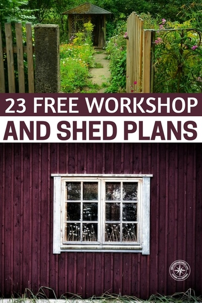 23 Free Workshop and Shed Plans - Whether you're just dreaming it or you're ready to build it, the backyard workshop is the ultimate for every woodworker. Just ask the guys who have one ;) This collection of links to plans, articles, books, videos – all free – shows you a wide range of possibilities so you can mix and match ideas to build the workshop of your dreams.