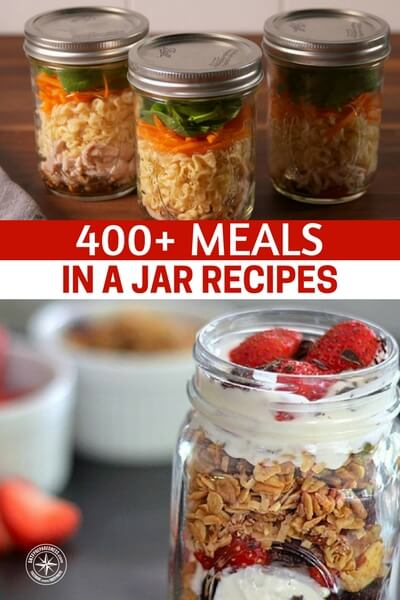 400+ Meals In A Jar Recipes - Over at mentalscoop.com, they have a list of 472 meals you can put in a jar, remember not only is this good for your family but these could be given to friends and family as gifts, also in your own way, preparing them without them knowing it